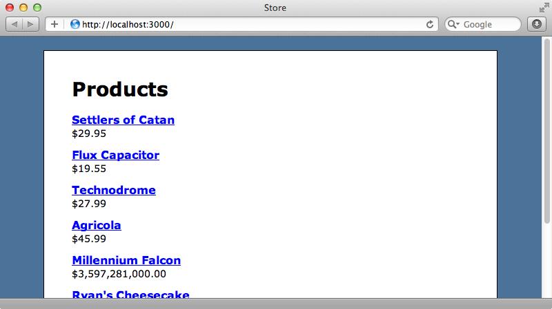 商品リストを表示するページ