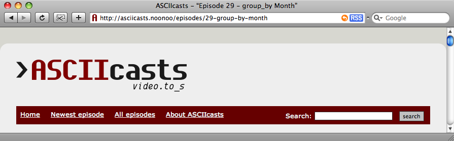 The episode's title in the browser's title bar.