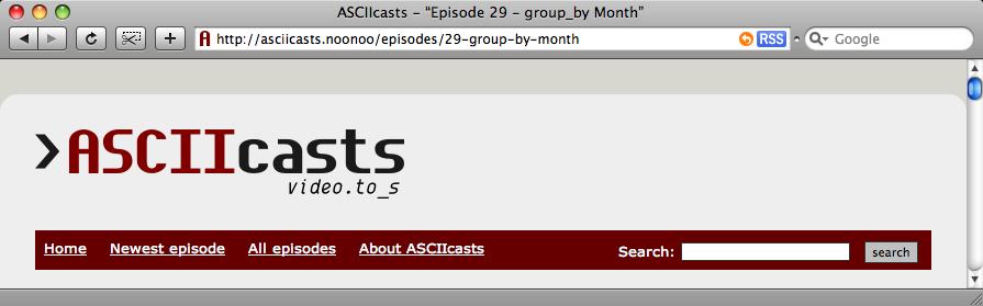 Il titolo dell'episodio nella barra del browser.