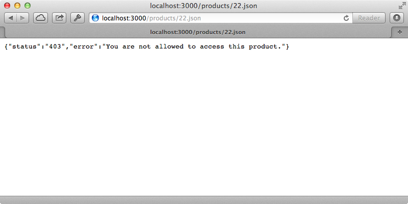 Our error page now handles JSON requests.