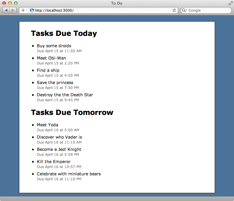 The task is now shown on the correct day.