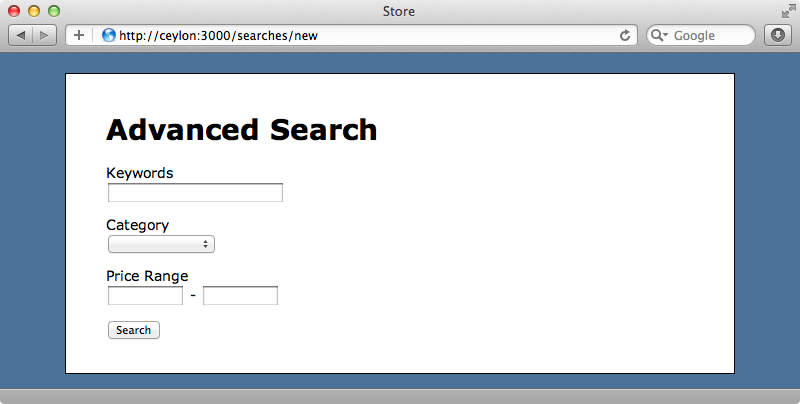 The new advanced search form.