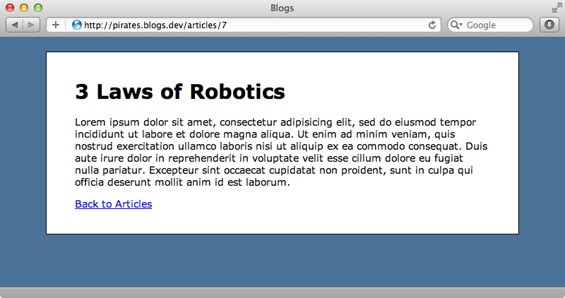 Accessing an article through the wrong subdomain.