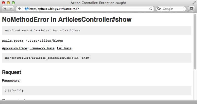 Accessing a blog through the wrong subdomain now shows an error.