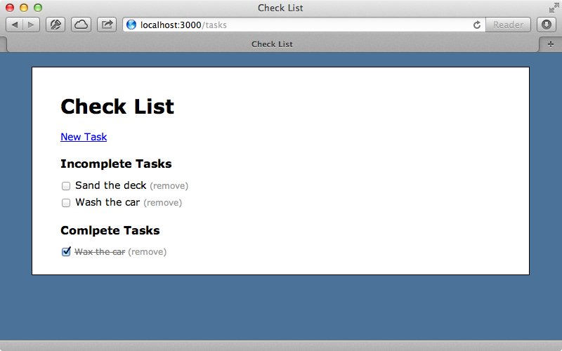 We can now mark a task as complete without the page reloading.