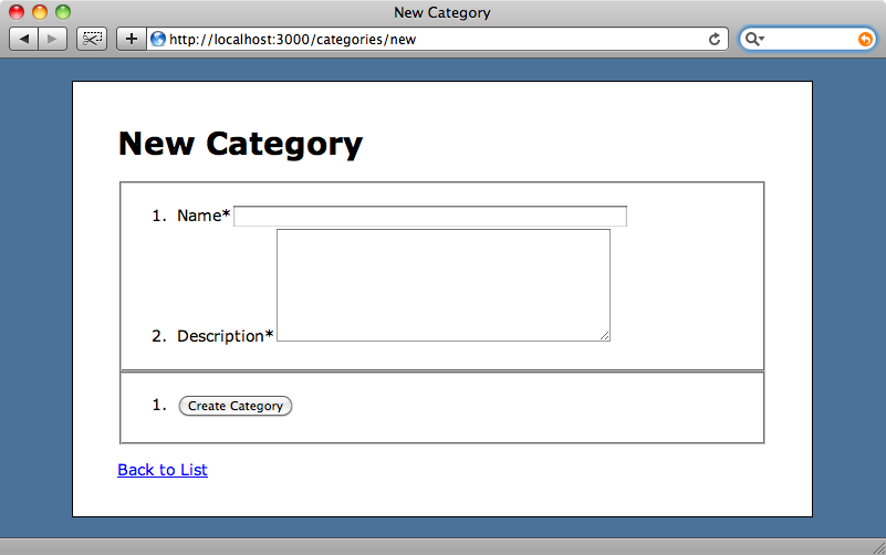 The New Category page using Formtastic code.