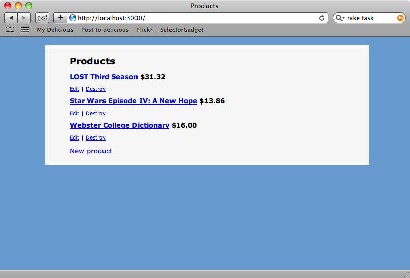 I prodotti ora hanno tutti il loro prezzo.