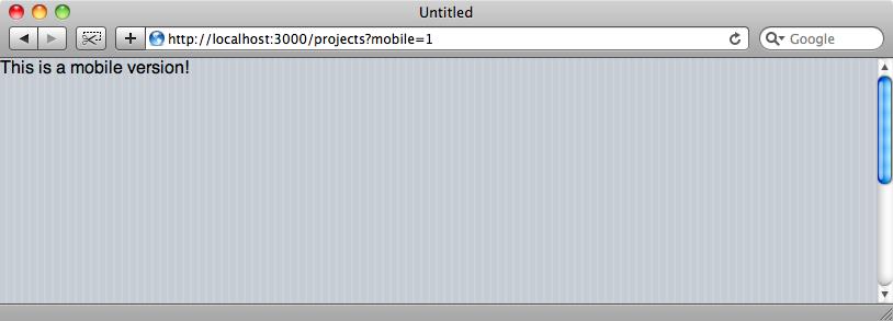 Le CSS jQTouch est maintenant appliqué.