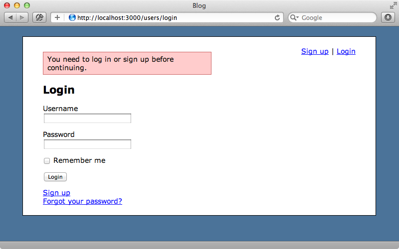 If we try to create an article while logged-out now we're redirected to the login page.