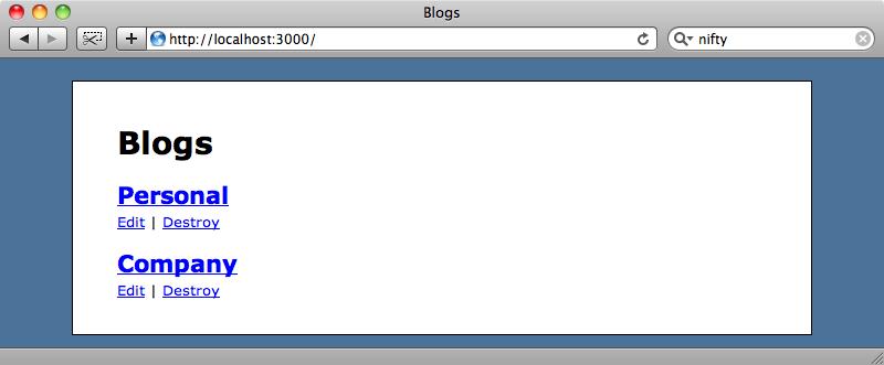 Nuestra aplicación de blogs