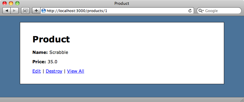 The redirected products page.