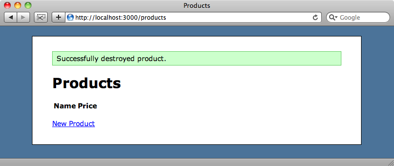 respond_with redirects to the index page after deleting a product.