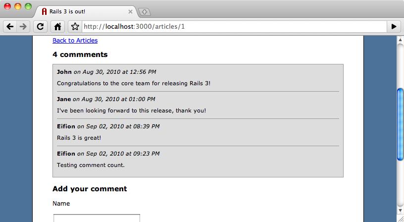 il contatore dei commenti ora viene aggiornato correttamente.