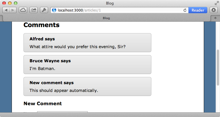 Comments made by other users now appear automatically.