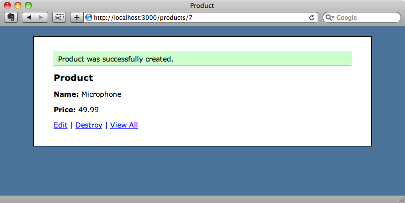 Successfully adding a product.