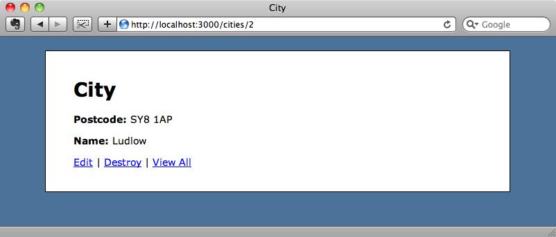 Si refrescamos la página ya aparece el nombre de la ciudade.