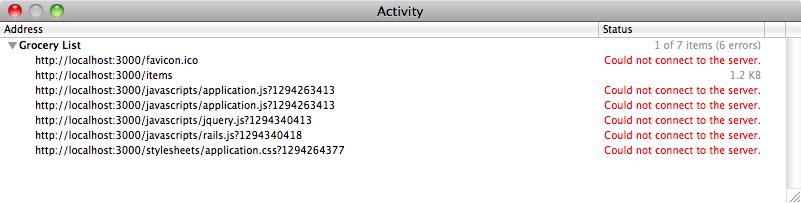 El navegador intenta descargar los archivos del servidor.