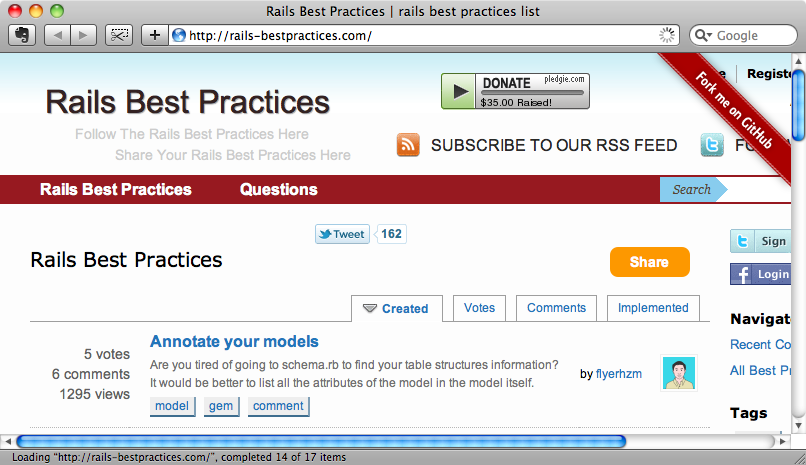Le site Rails Best Practices.