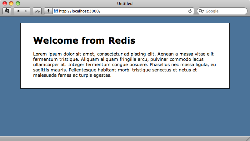 The translation now comes from the Redis database again.