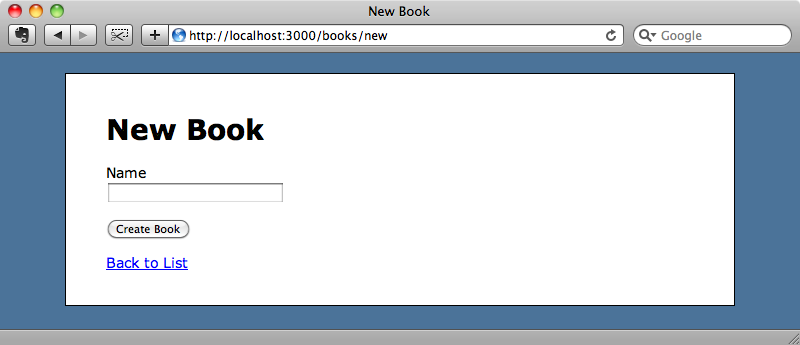 Our simple book store application.