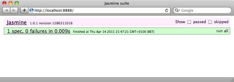 The JavaScript sent back is shown in the alert.