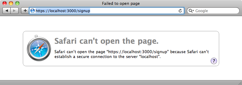 The page now requires SSL.