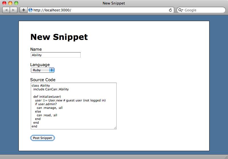 Le site de partage de snippets.