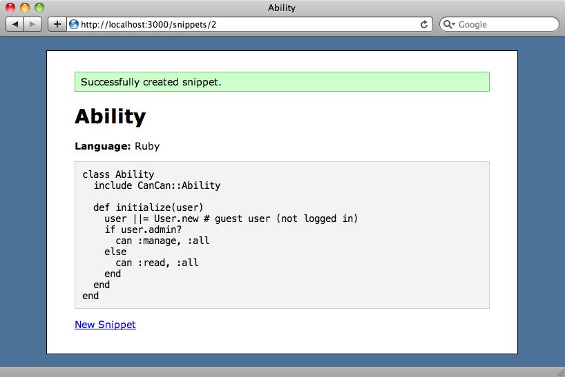 El fragmento de código no tiene resaltado de ningún tipo.