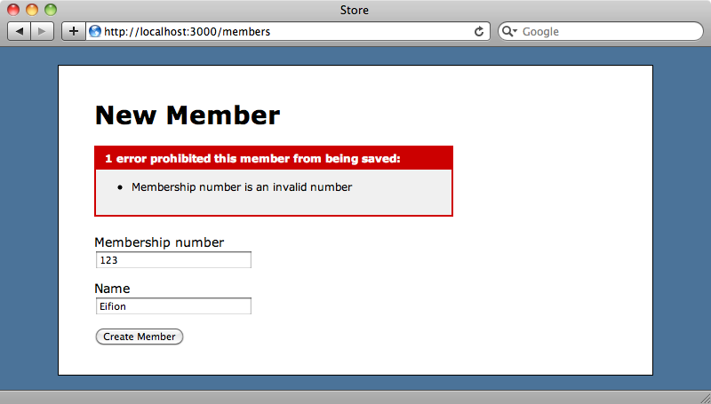 Membership numbers are now validated on the server too.