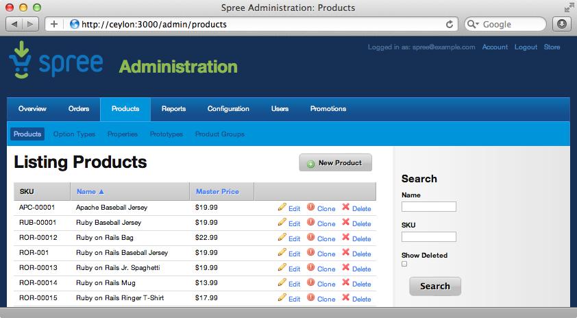 The admin site.