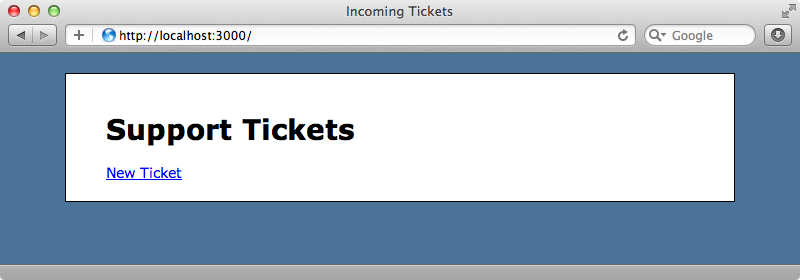 Our ticketing application.