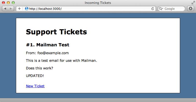 The ticket has been updated.
