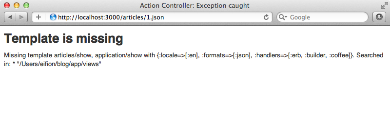 The JSON representation won't work out of the box.