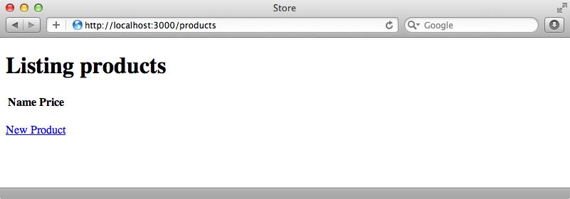 La página de productos sin estilos aplicados.