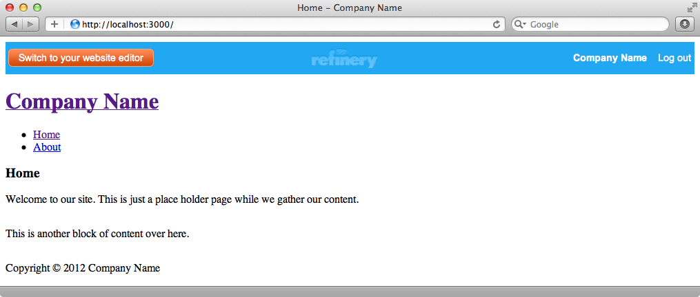 By default the pages we create have no styling.