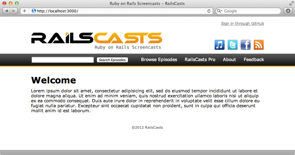 The page from the Railscasts site.