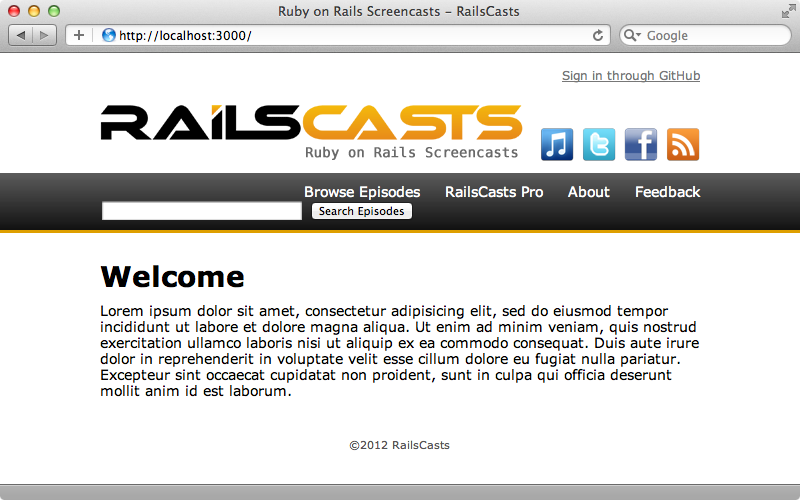 The simplified Railscasts site.