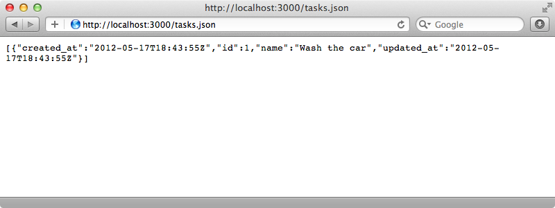 The JSON is now rendered through a RABL template.