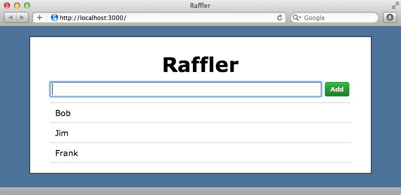 Adding entries through the browser.