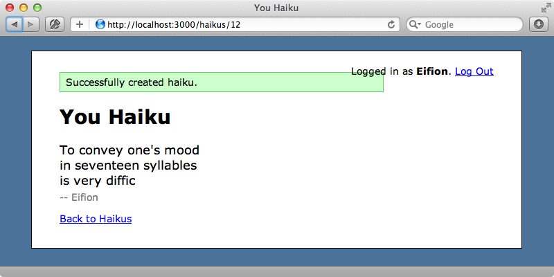 The YouHaiku site.