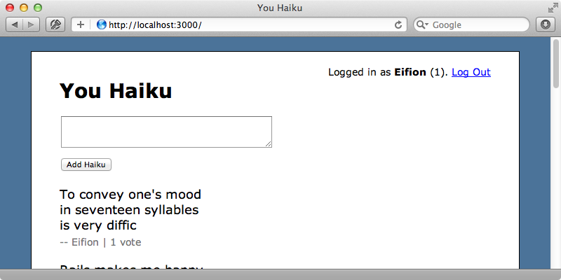 Links are no longer shown for haikus that the user has already voted for.