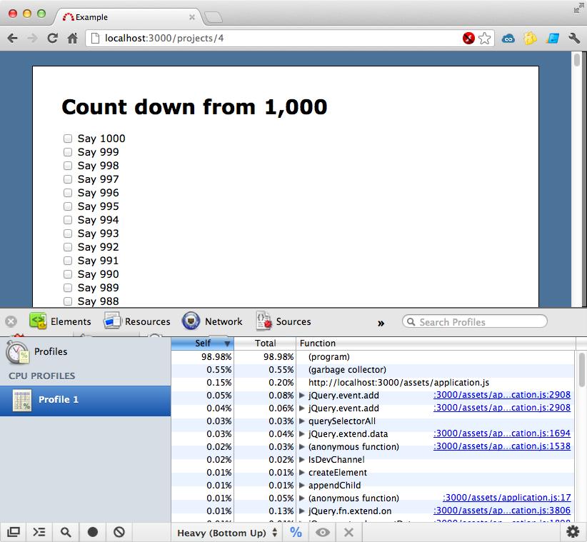 Chrome's profiling tool.