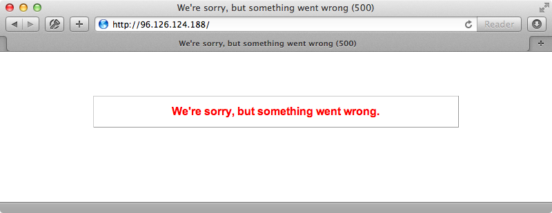 The migration causes a 500 error.