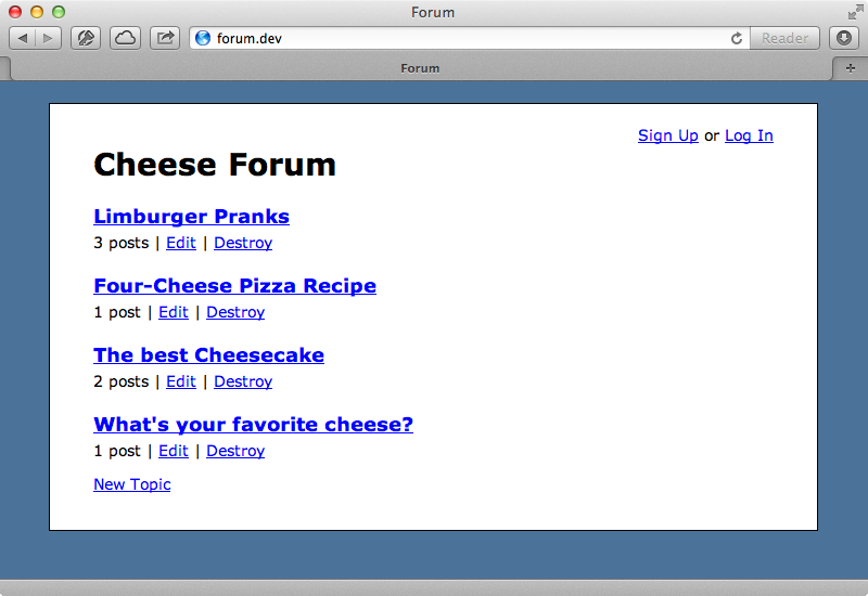 Our cheese forum.