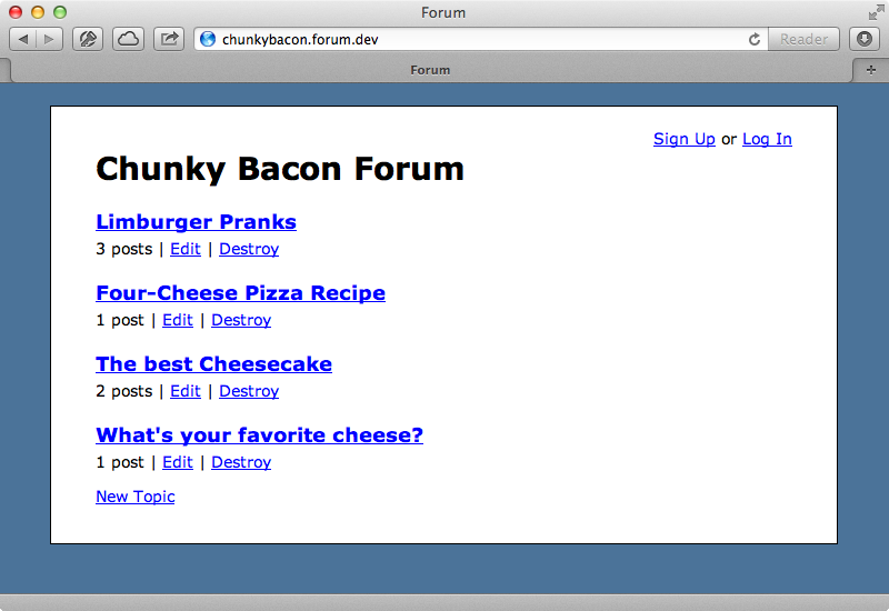 The Chunky Bacon forum now shows the correct header.