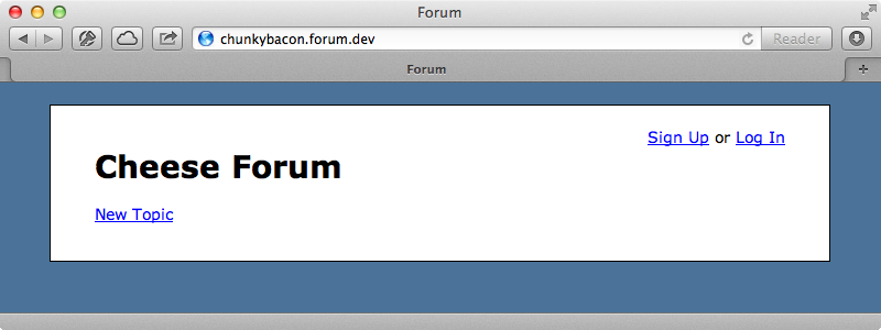 The Chunky Bacon forum has no topics of its own.