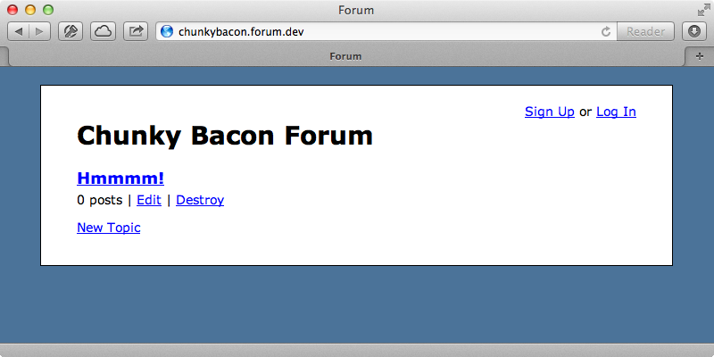 Topics are now only shown in the correct forum.