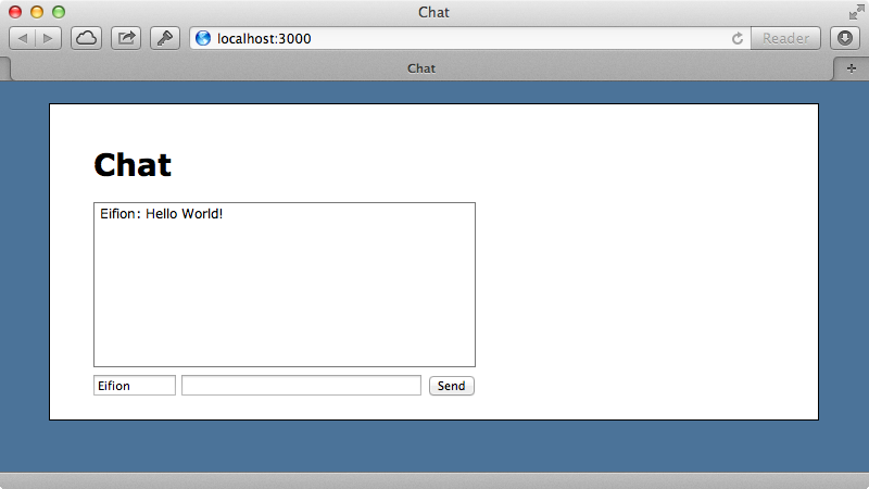 Our basic chat application.