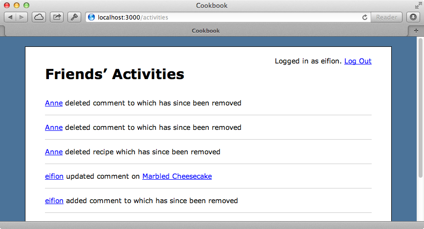 The activities page now handles deleted records.