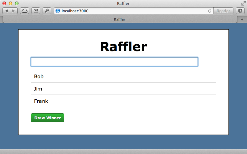 Our Raffler application.